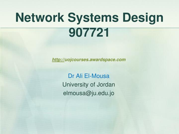 network systems design 907721 n.