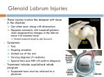 glenoid labrum injuries