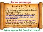 exodus 6 10 13