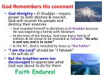 god remembers his covenant