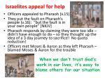 israelites appeal for help