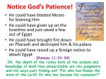 notice god s patience