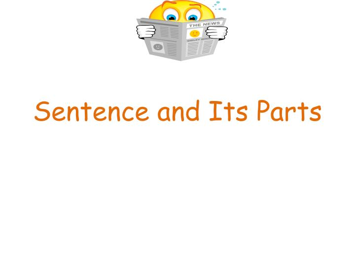 sentence and its parts n.