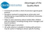 advantages of the quality mark