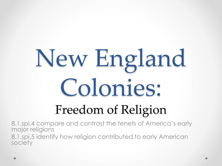 new england colonies freedom of religion n.
