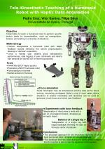 tele kinesthetic teaching of a humanoid robot with haptic data acquisition