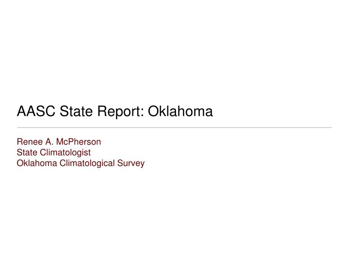 aasc state report oklahoma n.
