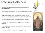 6 the sword of the spirit first one to defend and respond