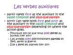 les verbes auxiliares