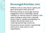 encouraged activities cont