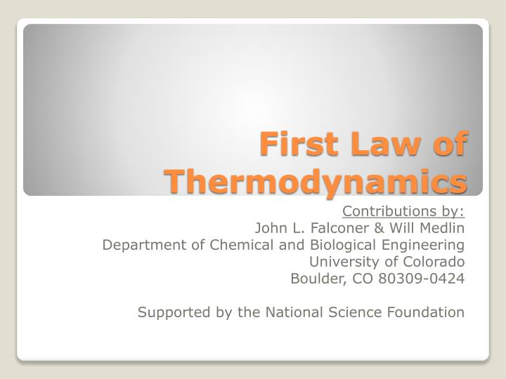 first law of thermodynamics n.