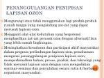 penanggulangan penipisan lapisan ozon