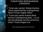 tumor paru berdasarkan lokasinya