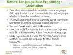 natural language rule processing conclusion