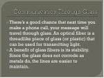 communication through glass