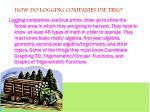 how do logging companies use trig