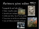 nazisterna griper makten 1932