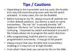 tips cautions