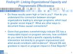 finding 1 linking organizational capacity and programmatic effectiveness2