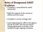 roles of designated cast coalition1