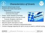 characteristics of grants
