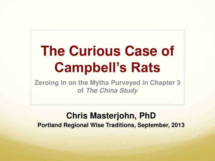 the curious case of campbell s rats n.
