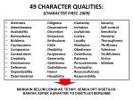 49 character qualities character first 2009