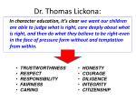 dr thomas lickona