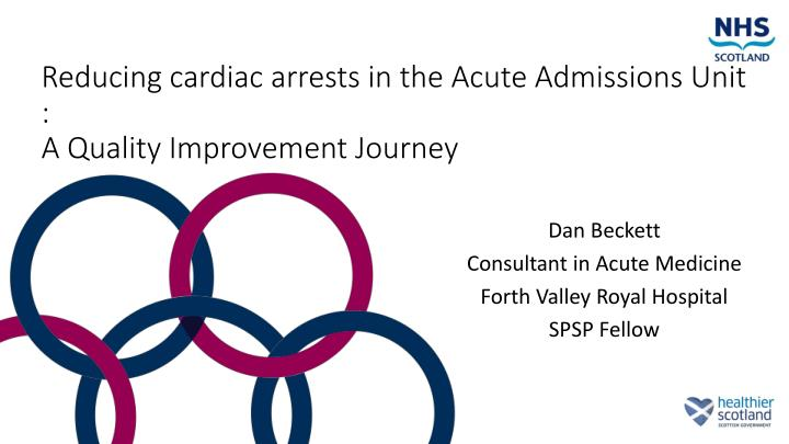 reducing cardiac arrests in the acute admissions unit a quality improvement journey n.