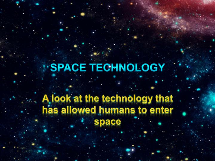 space technology n.