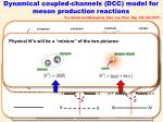 dynamical coupled channels dcc model for meson production reactions