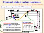 dynamical origin of nucleon resonances