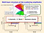 multi layer structure of the scattering amplitudes