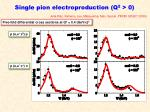 single pion electroproduction q 2 01