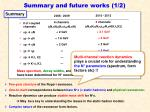 summary and future works 1 2