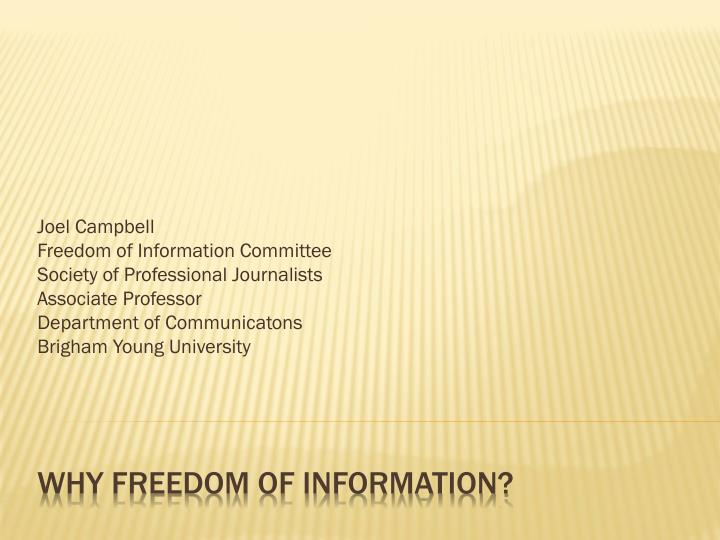 why freedom of information n.