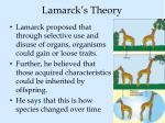 lamarck s theory
