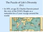 the puzzle of life s diversity 15 1