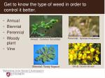 get to know the type of weed in order to control it better