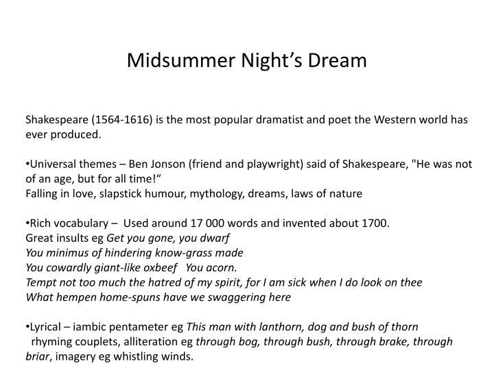 midsummer night s dream n.