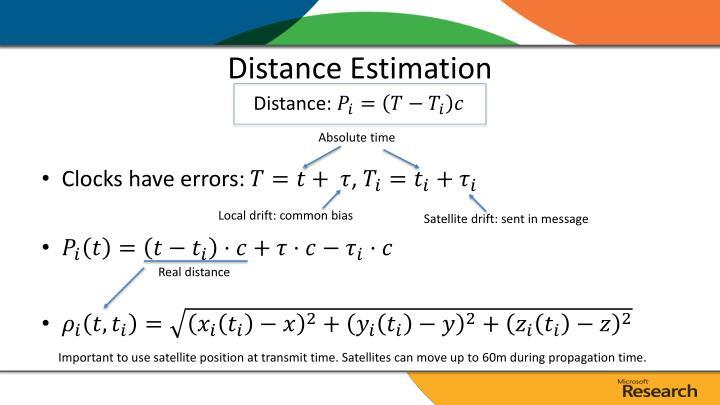 Distance Estimation