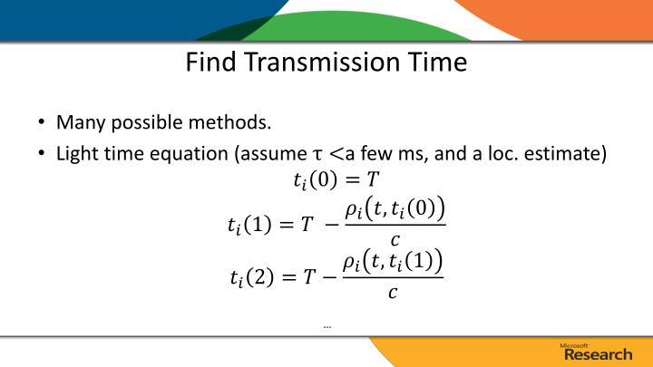 Find Transmission Time