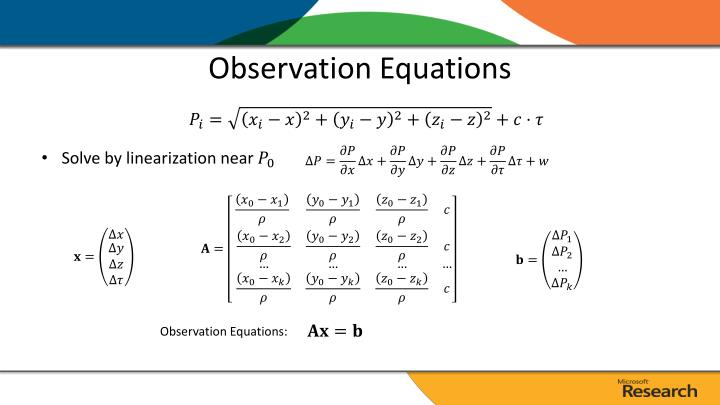 Observation Equations