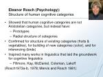 eleanor rosch psychology structure of human cognitive categories