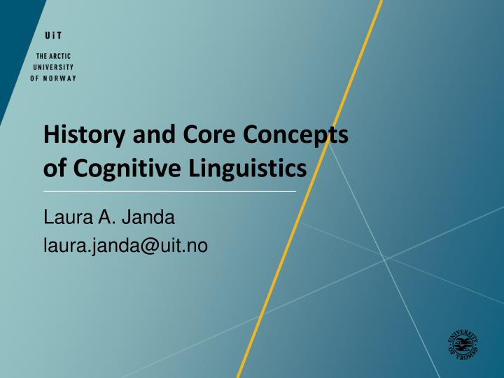 history and core concepts of cognitive linguistics n.