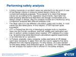 performing safety analysis