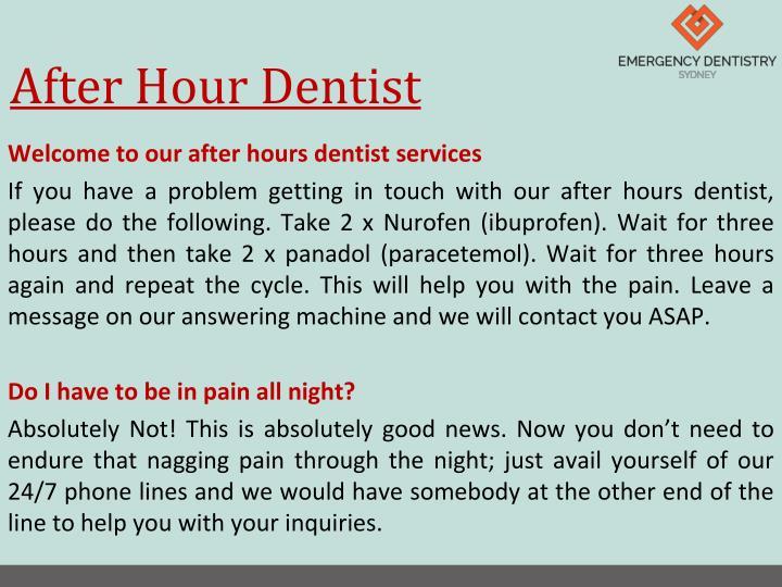 After hour dentist