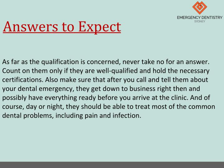 Answers to Expect