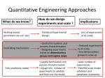 quantitative engineering approaches