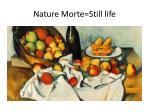 nature morte still life